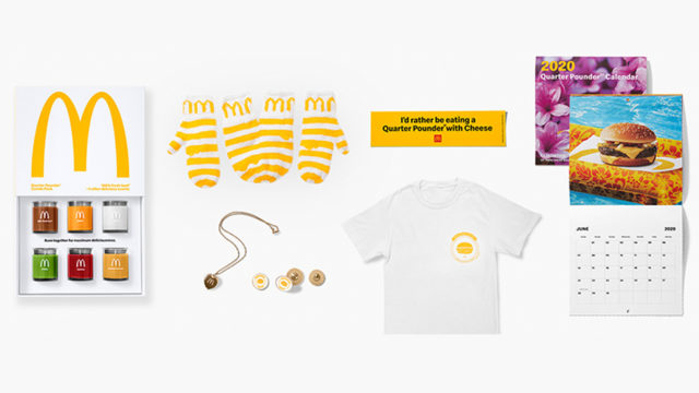 The burger chain is offering Quarter Pounder-inspired merchandise to its fans for a limited time.