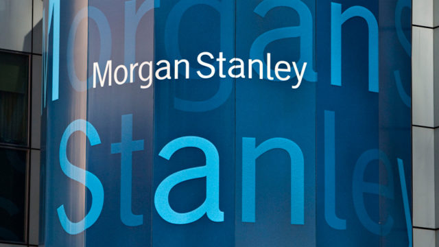 Blue Morgan Stanley signage