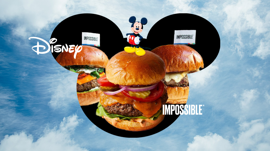 a disney mickey silhouette filled with burgers