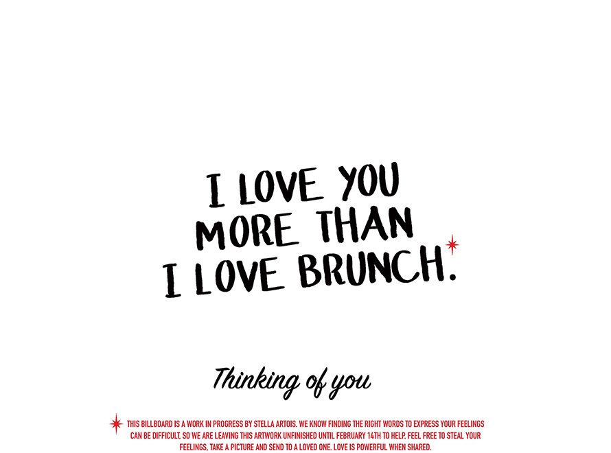 a white background that says i love you more than brunch