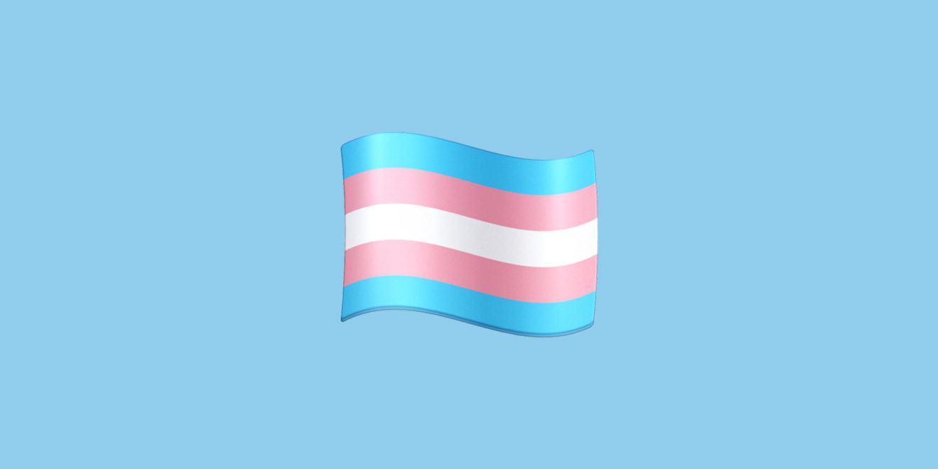 the trans flag emoji