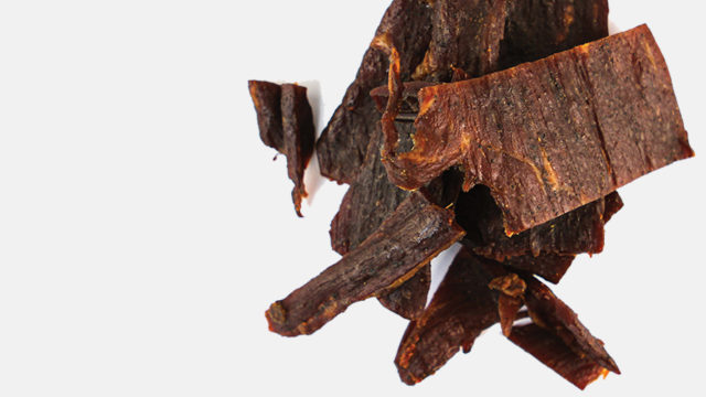 A photo of beef jerky
