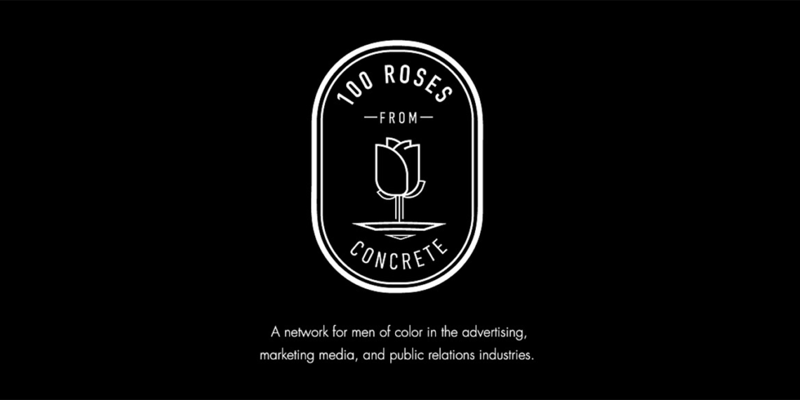 100 roses from concrete logo