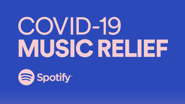spotify has started a COVID-19 Music Relief charity.
