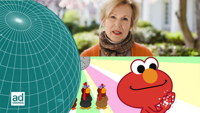 a woman and elmo