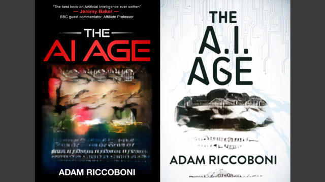 Two copies of the book The AI Age