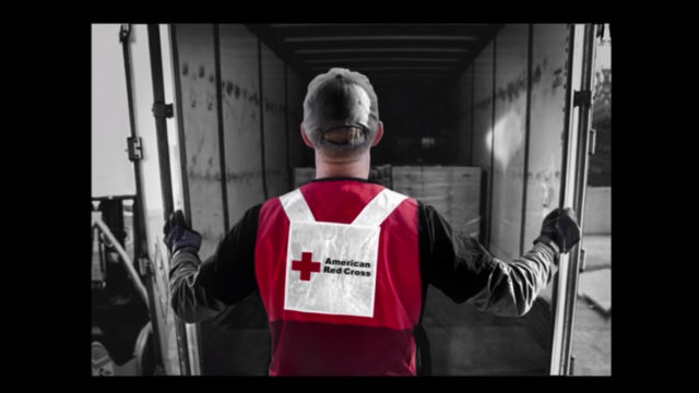 a red cross worker