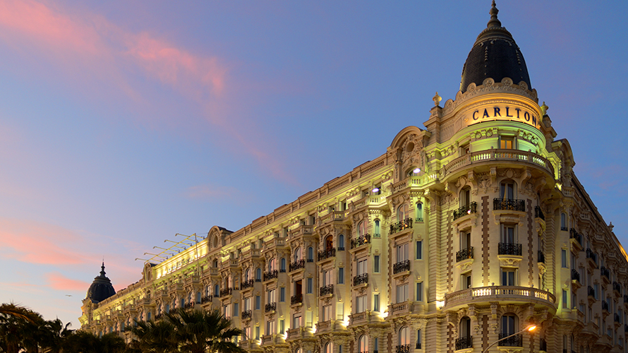 A photo of a building in Cannes, France