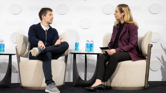 Ben Lerer, managing partner at Lerer Hippeau, speaks with Stephanie Paterik, executive editor of Adweek, at Adweek's Challenger Brands Summit in New York.