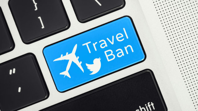 twitter travel ban button