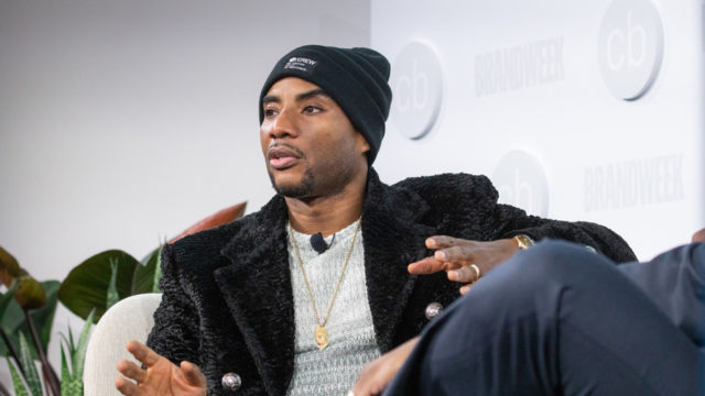 Charlamagne tha God on stage at Challenger Brands