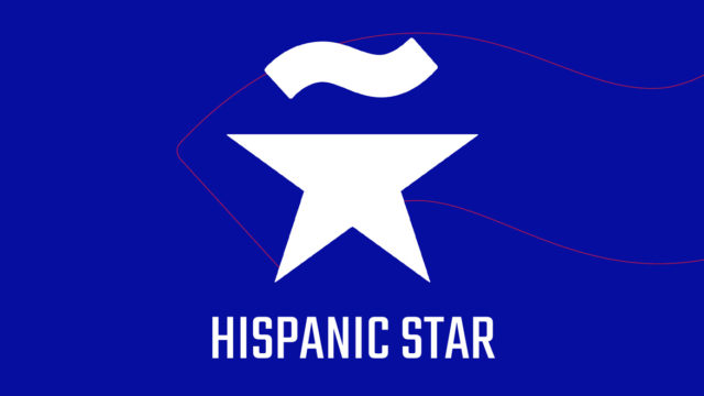 The words Hispanic Star under a logo featuring a star with a spanish 'eñe' accent on top