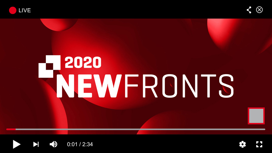 A screenshot of a YouTube video with the 2020 NewFronts logo