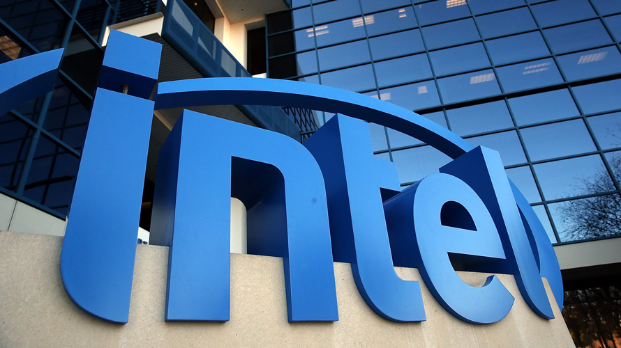 Photo of the Intel logo