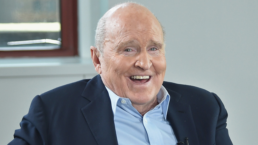 A photo of Jack Welch smiling