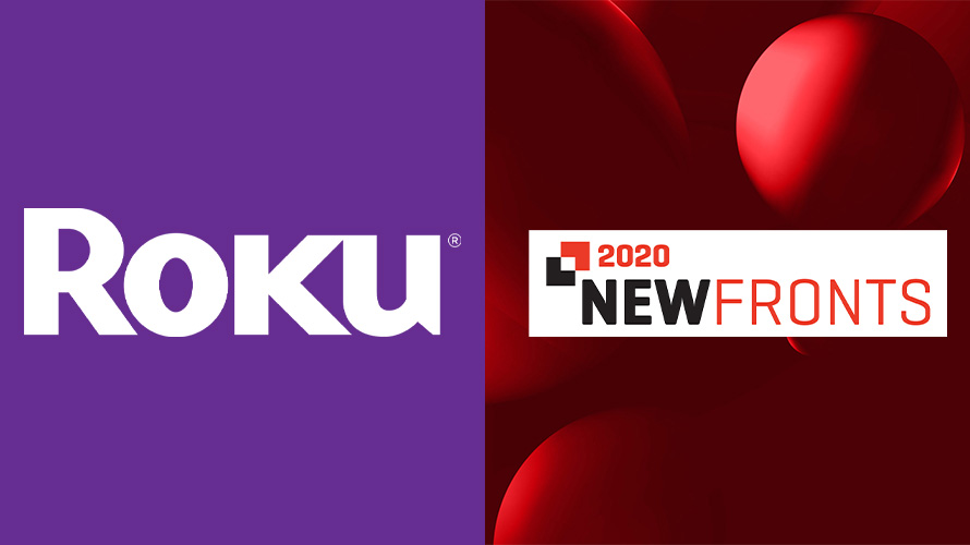 the logos of roku and newfronts