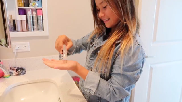 sky brown washing her hands