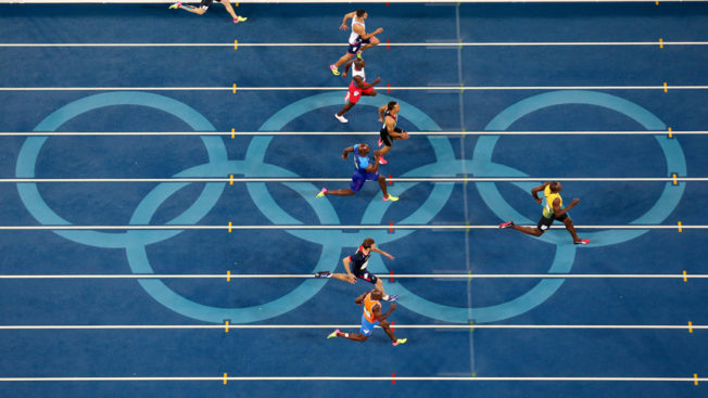 olympic track and field runners