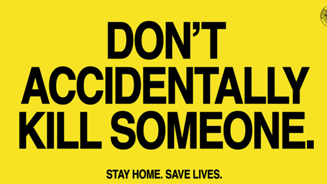 Oregon Launches Blunt COVID-19 Message: Stay Home or You Could Accidentally Kill Someone