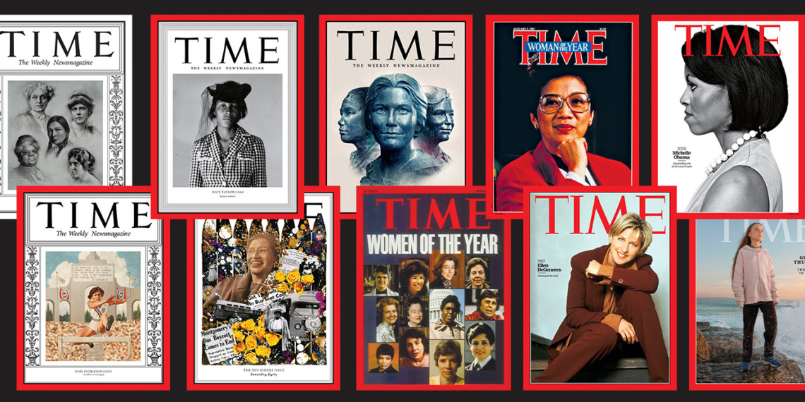 A selection of Time's Women of the Year covers.