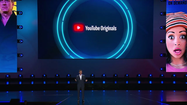 YouTube on stage at an event