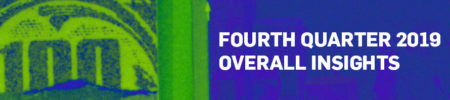 image with a green bridge on the left and blue background that says fourth quarter 2019 overall insights on the right