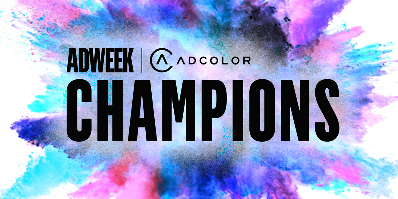 Adweek and Adcolor Champions logo