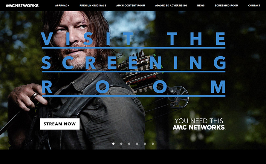 AMC Networks' Screening Room has full seasons of AMC Networks programming and first looks at upcoming original shows.