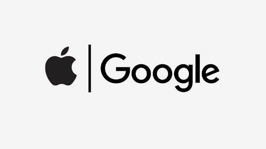 google and apple logos