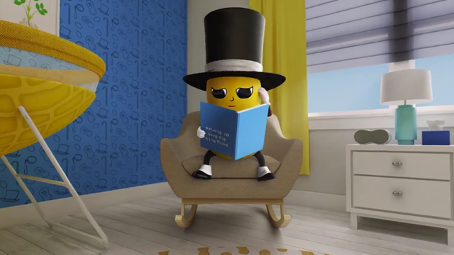 Planters Baby Nut reading a book