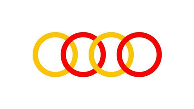 Why Audi Russia Turned Its Logo Red and Yellow (and Why Other Brands Are Joining In)