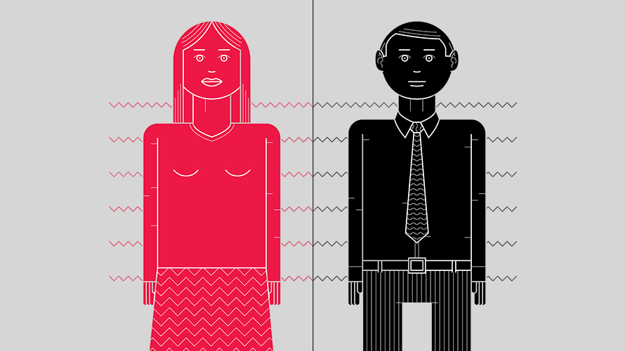 The project features adjectives that differ between men and women.