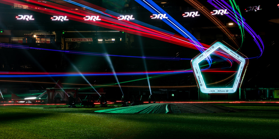 a drone racing course