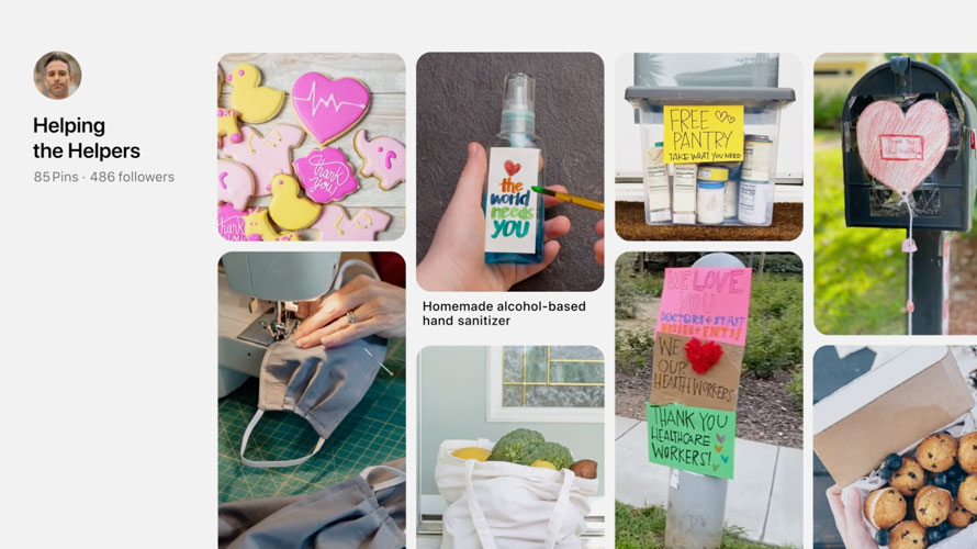 Screenshot of a Pinterest board