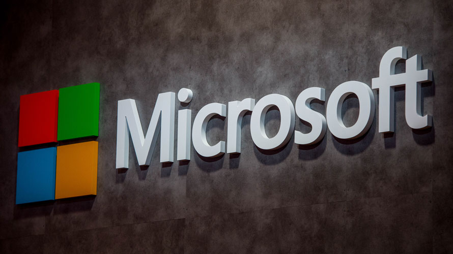 Photo of the Microsoft logo