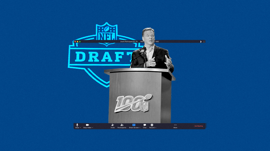 roger goodell at a podium
