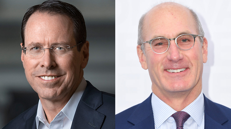 Photo of Randall Stephenson and John Stankey