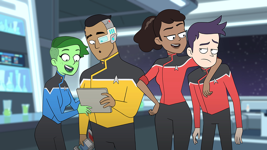 A screenshot from the animated Star Trek: Lower Decks series
