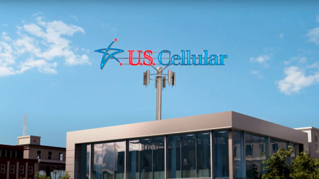 Photo of a building with the U.S. Cellular logo on top