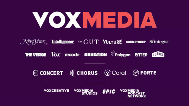 a photo that says vox medida with all of its media outlets listed underneath
