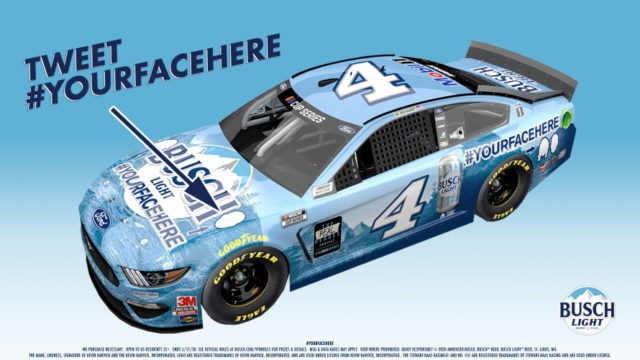Busch to Put Fans' Faces on Kevin Harvick's Nascar Ride Via #YourFaceHere Twitter Contest