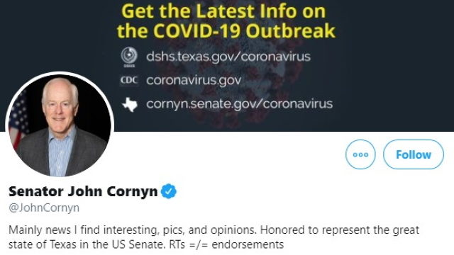 Knight Institute to Sen. John Cornyn: Don't Block People on Twitter