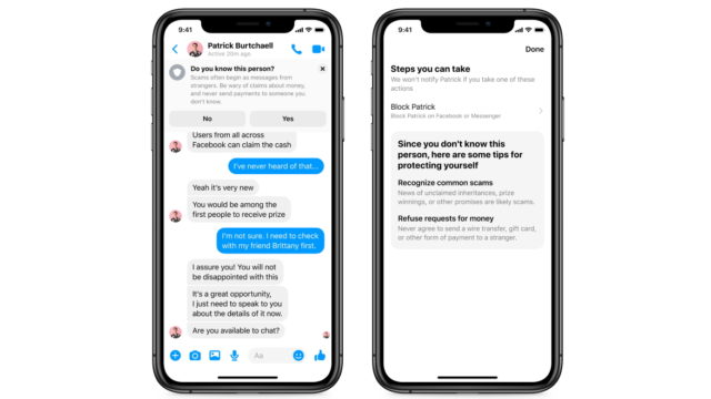 Messenger From Facebook Rolls Out Alerts to Warn Users of Impersonators, Scams
