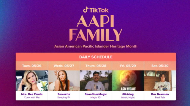 TikTok Kicks Off Week of Programming for Asian American and Pacific Islander Heritage Month