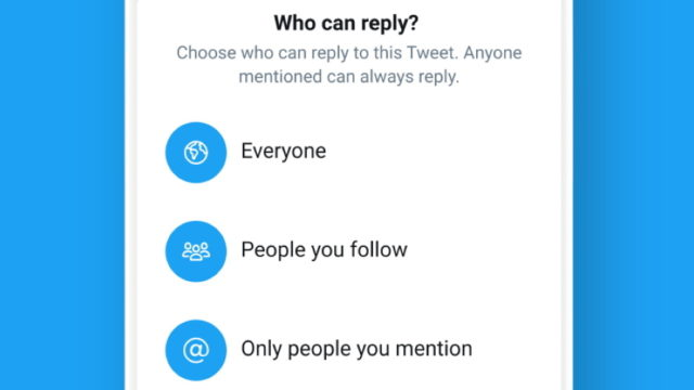 Twitter Begins Testing Settings to Limit Who Can Reply to Tweets