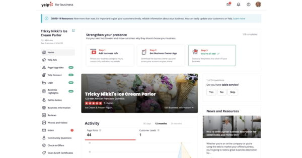Revamped Yelp for Business Interface Debuts