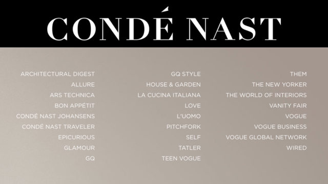 Condé Nast Lays Off or Furloughs Nearly 200 Staffers