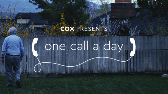 Screenshot of Cox Communications ad with the text, 'Cox Presents One Call a Day'