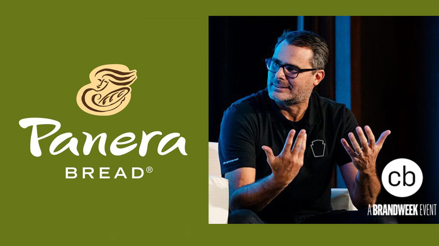 The Panera Bread logo next to a photo of Eduardo Luz
