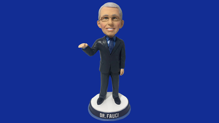 a bobblehead of dr. fauci